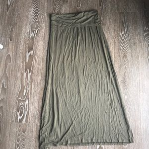 Small olive green maxi skirt